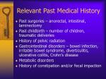 relevant past medical history