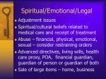 spiritual emotional legal
