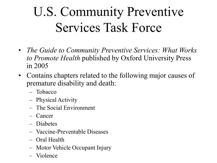 U.S. Community Preventive Services Task Force