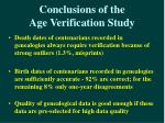 conclusions of the age verification study
