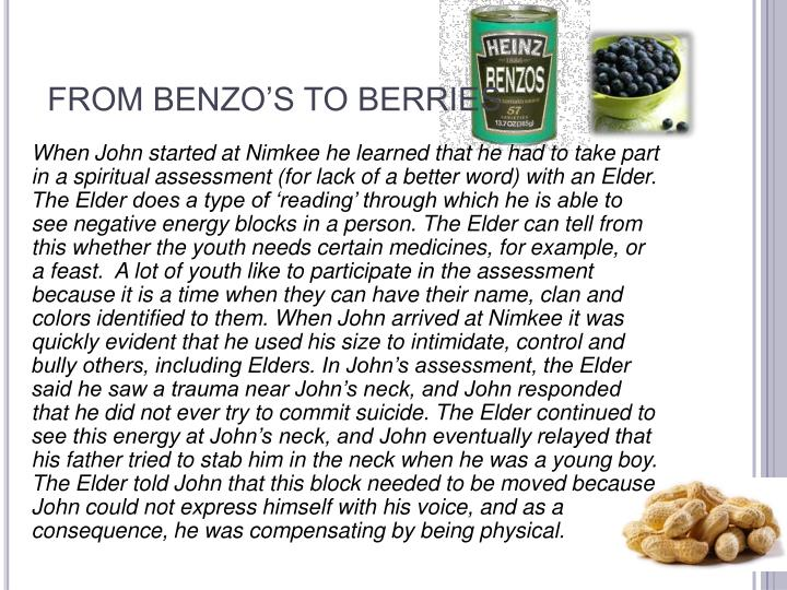 FROM BENZO'S TO BERRIES