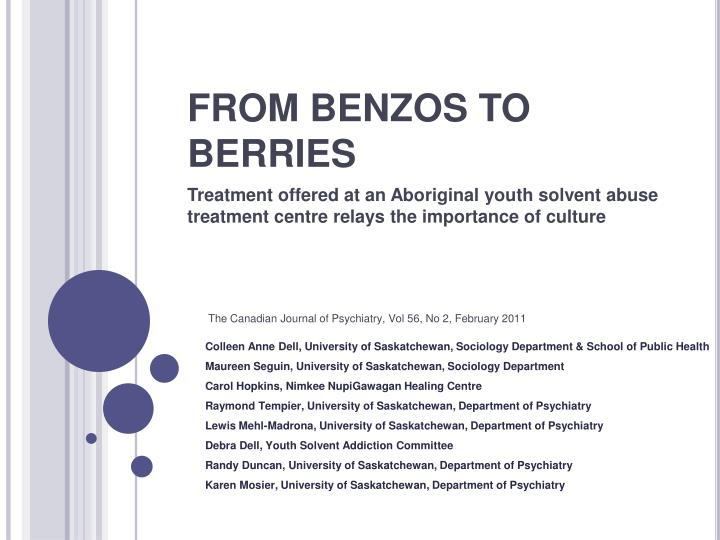 From benzos to berries