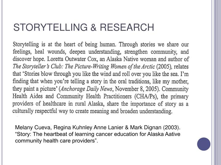 Storytelling research