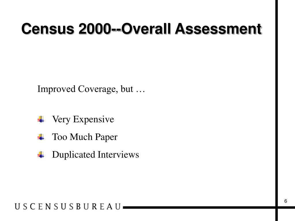 Census 2000--Overall Assessment