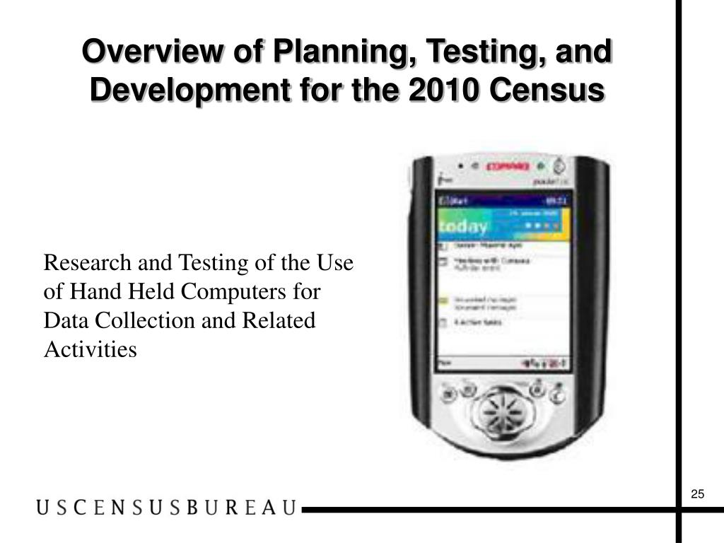 Overview of Planning, Testing, and Development for the 2010 Census
