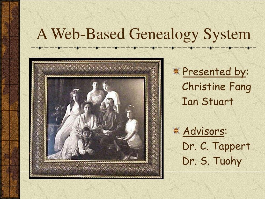 a web based genealogy system l.