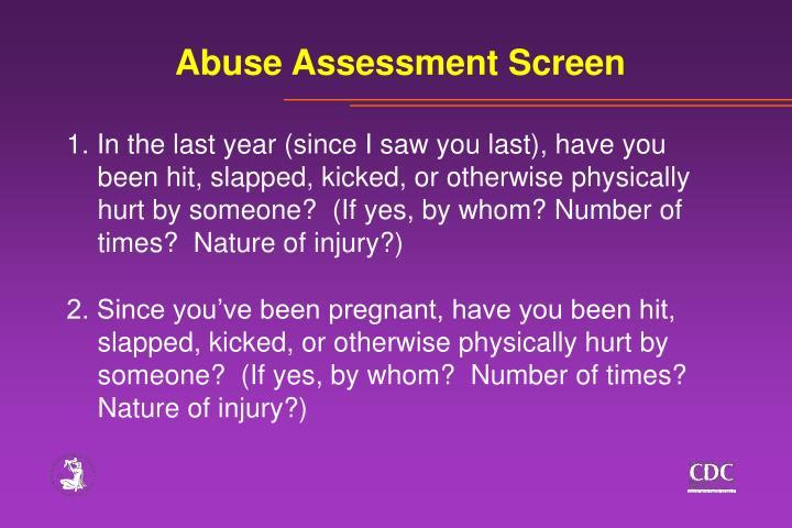 Abuse Assessment Screen