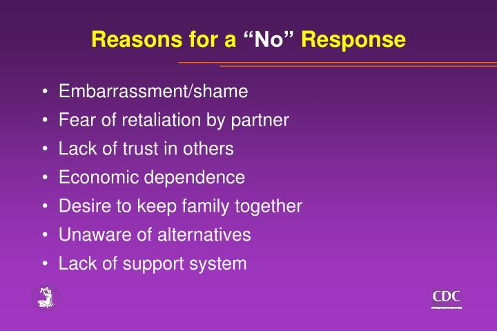 Reasons for a