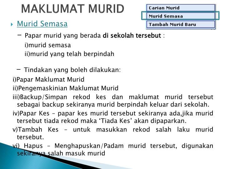 MAKLUMAT MURID