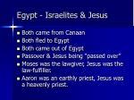 egypt israelites jesus