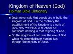 kingdom of heaven god holman bible dictionary