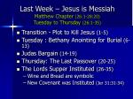 last week jesus is messiah matthew chapter 26 1 28 20 tuesday to thursday 26 1 35