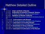 matthew detailed outline