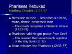 pharisees rebuked matthew chapter 12 22 37