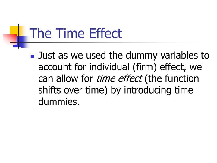 The Time Effect