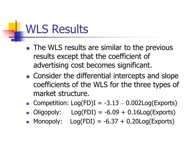 WLS Results