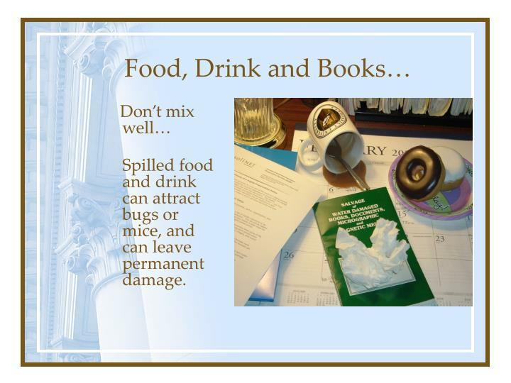 Food drink and books