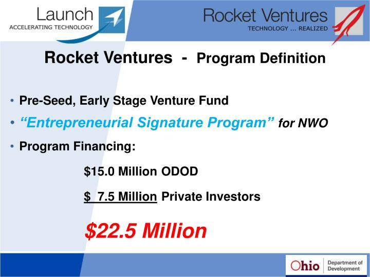 Rocket ventures program definition