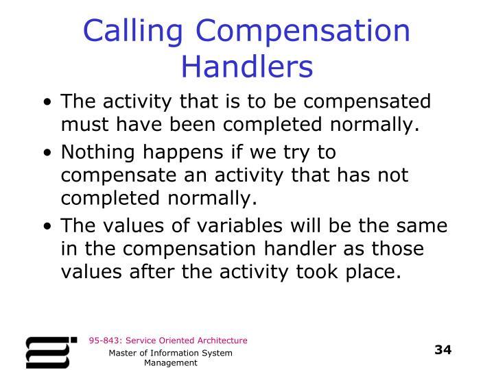 Calling Compensation Handlers