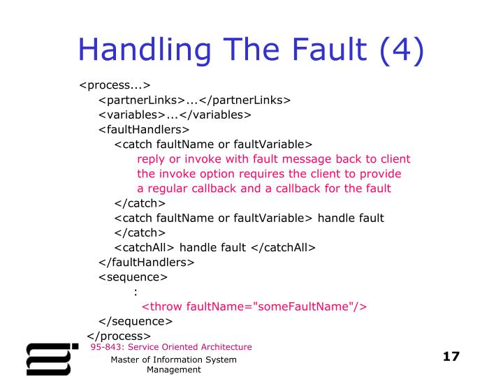 Handling The Fault (4)