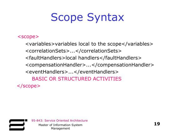 Scope Syntax