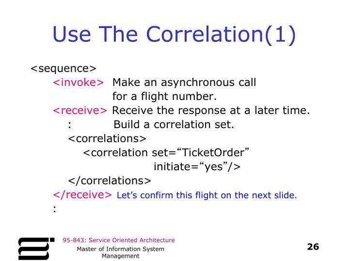 Use The Correlation(1)