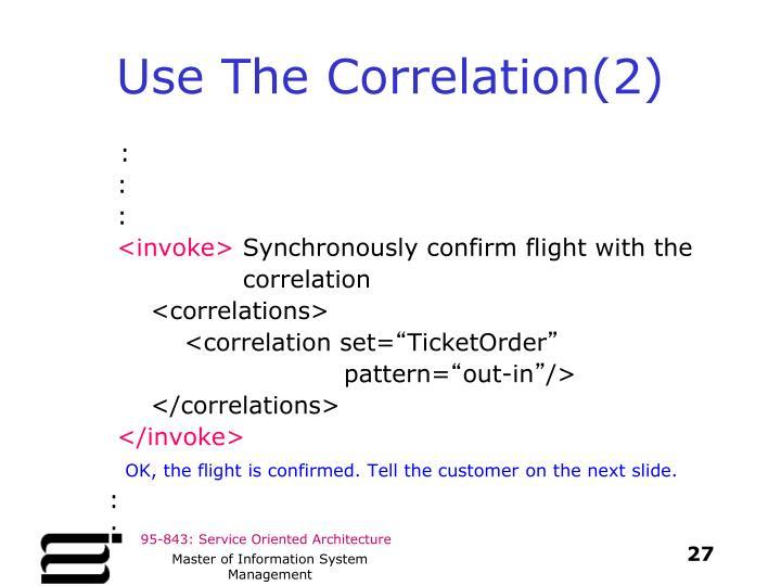 Use The Correlation(2)