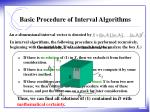 basic procedure of interval algorithms