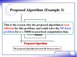 proposed algorithm example 31
