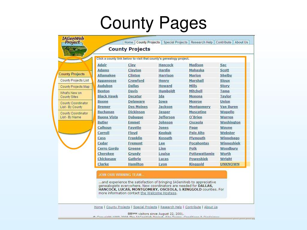 County Pages