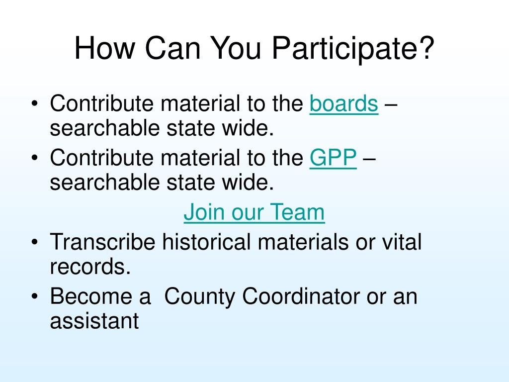 How Can You Participate?