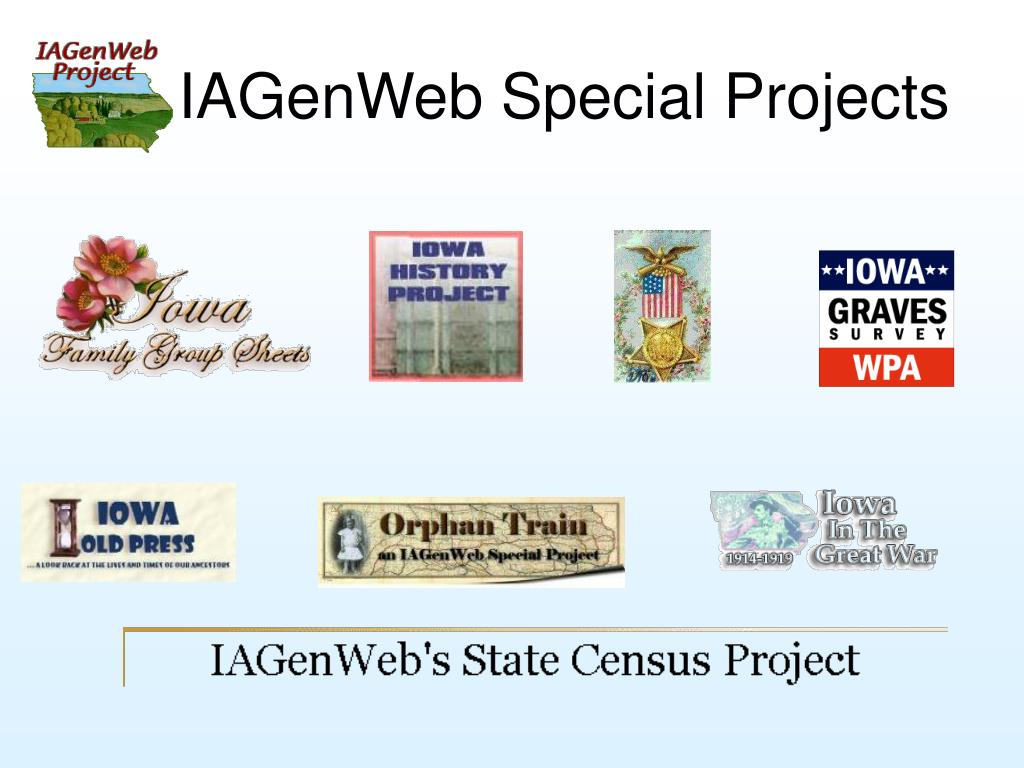IAGenWeb Special Projects