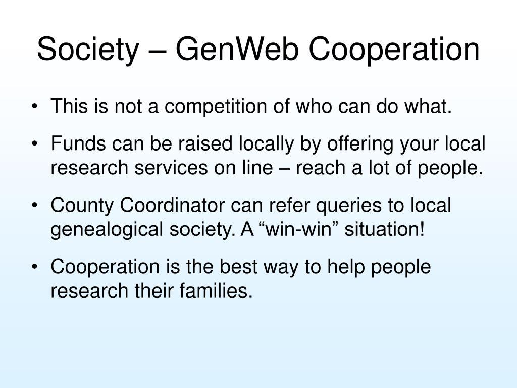 Society – GenWeb Cooperation