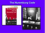 the nuremburg code