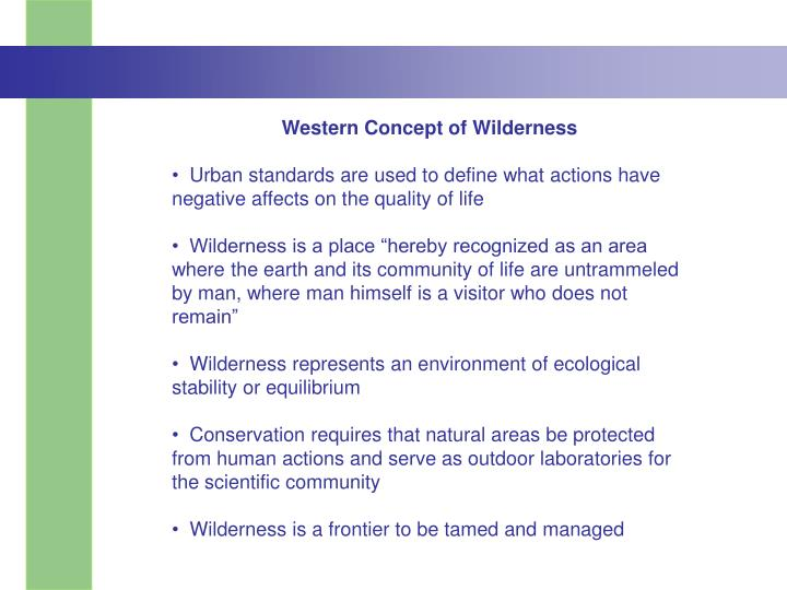 Western Concept of Wilderness