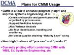 plans for cmmi usage