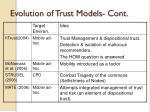 evolution of trust models cont