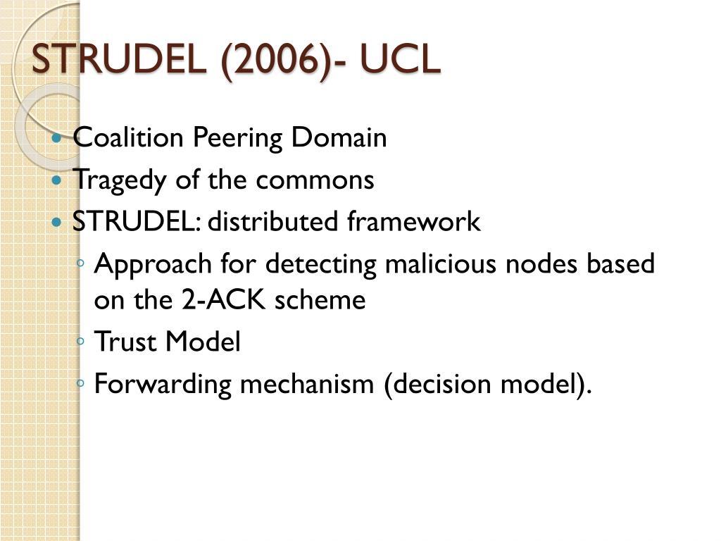 STRUDEL (2006)- UCL
