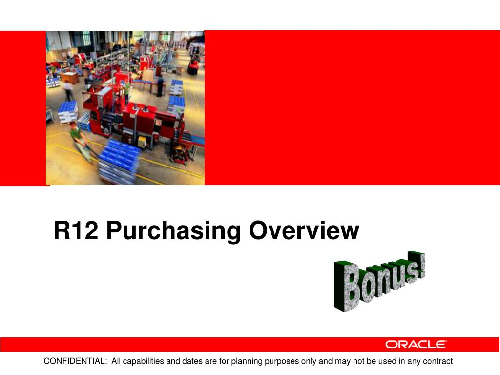 R12 Purchasing Overview