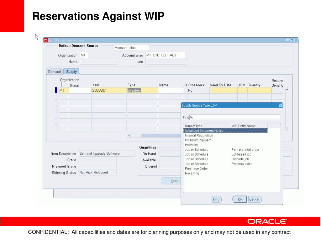 Reservations Against WIP