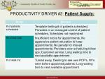 productivity driver 2 patient supply15