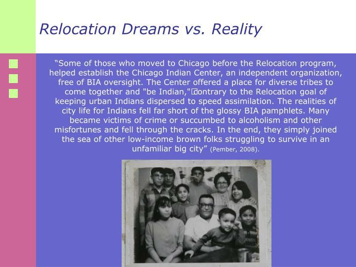 Relocation Dreams vs. Reality