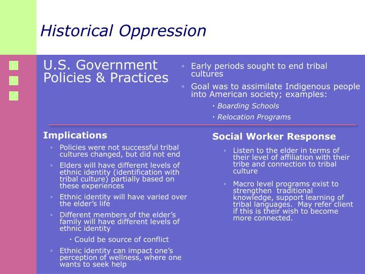 Historical Oppression