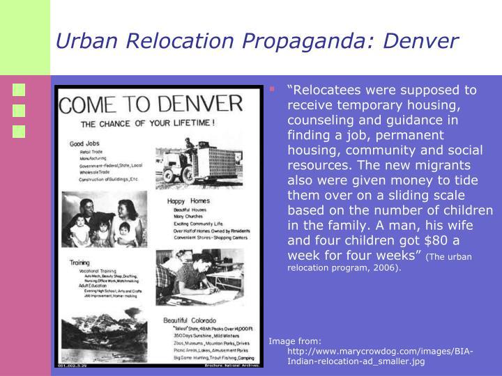 Urban Relocation Propaganda: Denver