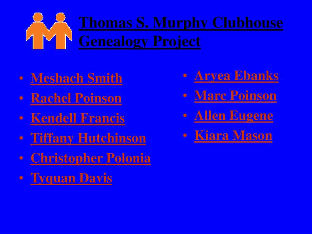 thomas s murphy clubhouse genealogy project l.