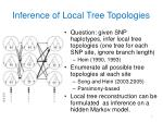 inference of local tree topologies