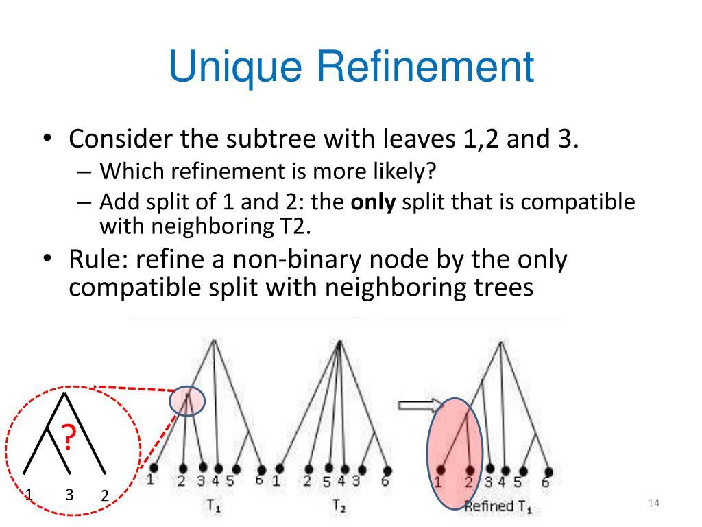 Unique Refinement