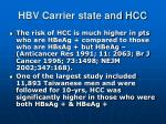 hbv carrier state and hcc1