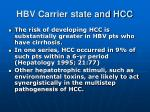 hbv carrier state and hcc2