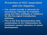 prevention of hcc associated with chr hepatitis2